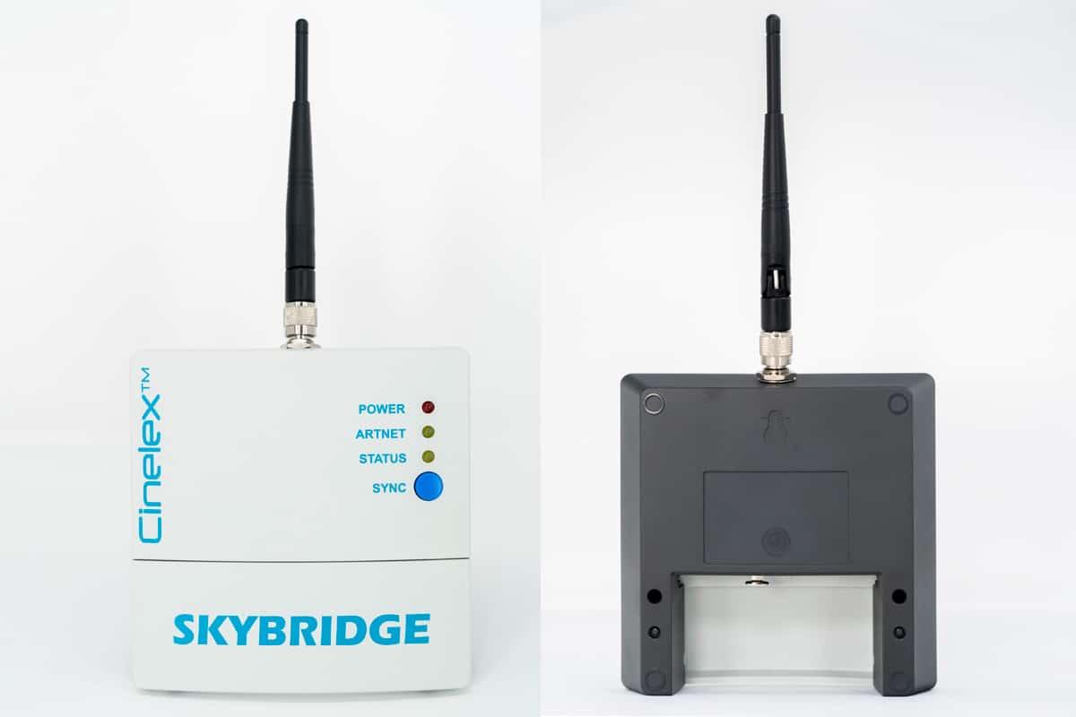 Cinelex SKYBRIDGE WiFi ArtNet to Wireless DMX Converter