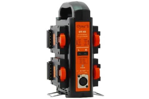 Dynacore TINY ladestasjon for 4 TINY V-Mount batterier (vertikal)
