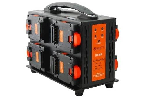 Dynacore TINY ladestasjon for 8 TINY V-Mount batterier