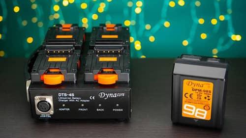 dynacore dts 4s tiny ladestasjon vmount dpm 98s batteri