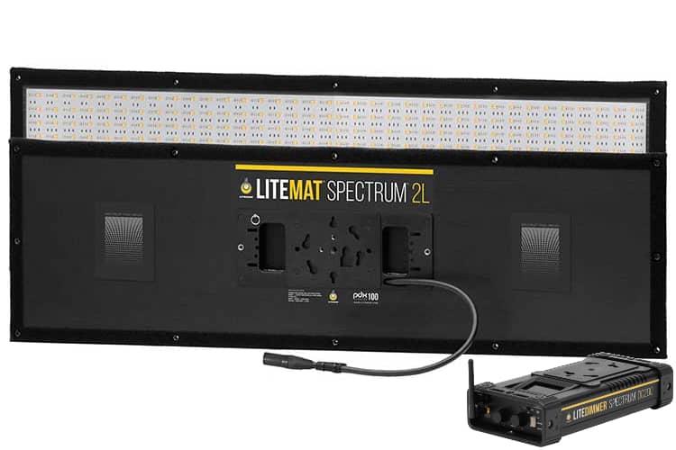 LiteMat Spectrum 2L er en myk lyskilde med trådløs DMX innebygd, justerbar fargetemperatur mellom 2000 og 11000 kelvin